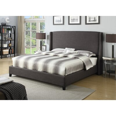 Bramble Upholstered Panel Bed Size: King