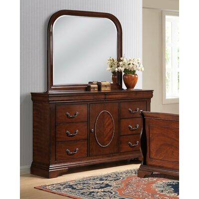 Babette 8 Drawer Dresser with Mirror