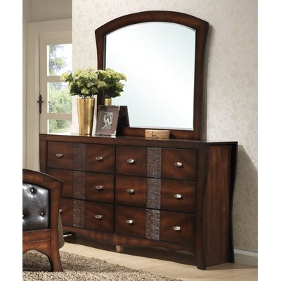 Picket House Furnishings Jenny 6 Drawer Dresser with Mirror (2 Pieces)