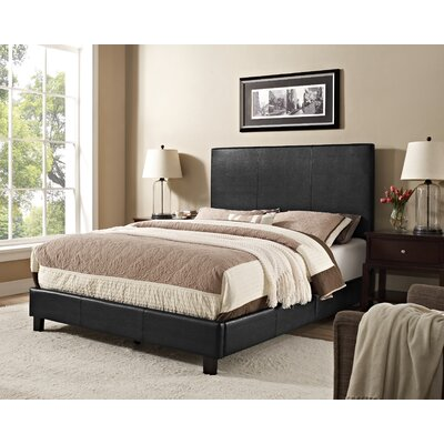 Jana Queen Upholstered Panel Bed Color: Black