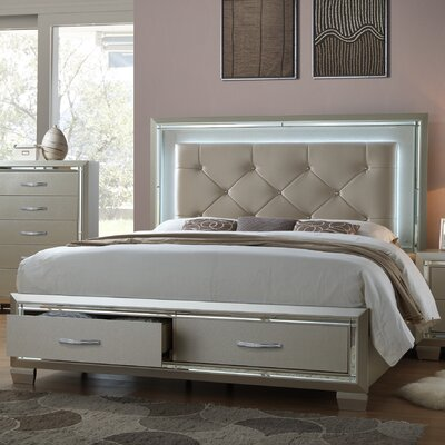 Rocky Upholstered Platform Bed Size: King