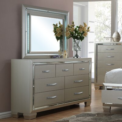 Holmfirth 7 Drawer Dresser with Mirror