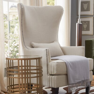 Sudbury Wingback Chair Upholstery: Natural