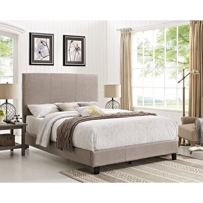 Jana Queen Upholstered Panel Bed Color: Gray