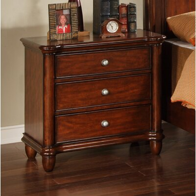 Bancroft Woods 3 Drawer Nightstand