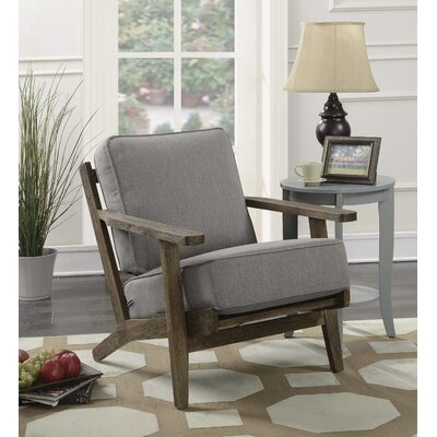Lora Accent Armchair Upholstery: Slate, Finish: Antique