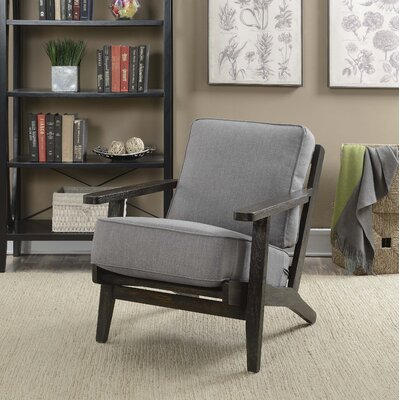 Lora Accent Arm Chair Upholstery: Slate, Finish: Espresso