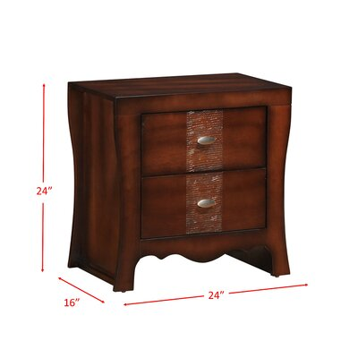Northlake 2 Drawer Nightstand