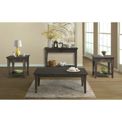 Suzann Tapered 3 Piece Smoke Gray Coffee Table Set