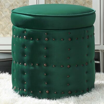 St Helens Storage Ottoman Upholstery: Emerald