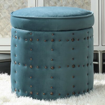 St Helens Storage Ottoman Upholstery: Marine Blue