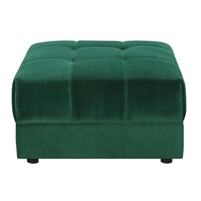 Epsom Ottoman Color: Emerald
