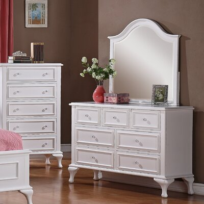 Consuelo 7 Drawer Dresser with Mirror