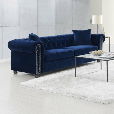 Heathfield Loveseat Upholstery: Navy Blue