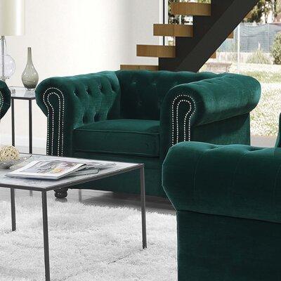Heathfield Armchair Upholstery: Emerald