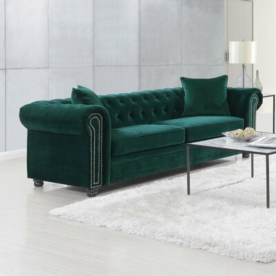 Heathfield Loveseat Upholstery: Emerald