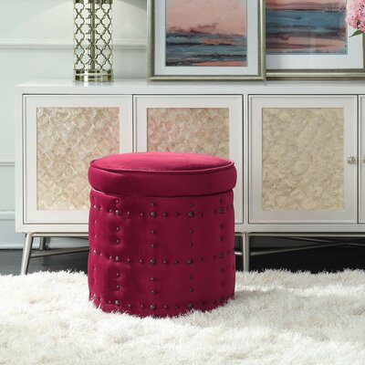St Helens Storage Ottoman Upholstery: Cranberry