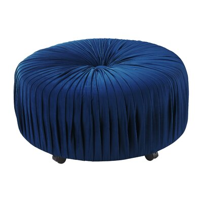 Halina Cocktail Ottoman Upholstery: Navy Blue