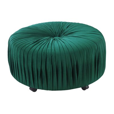 Halina Ottoman Upholstery: Emerald