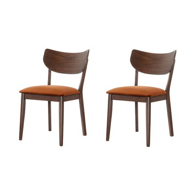 Waterbury Solid Wood Dining Chair Color: Orange