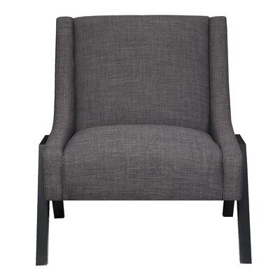 Fredia Slipper Chair Upholstery: Charcoal