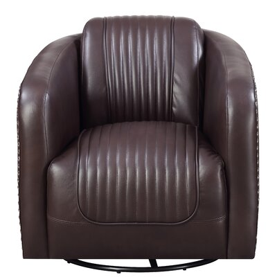 Oakvale Swivel Barrel Chair Upholstery: Chocolate