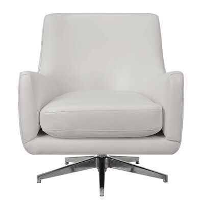 Lyon Swivel Armchair Upholstery: White
