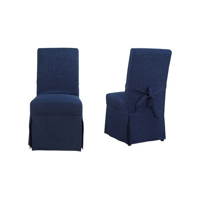 Benton Parsons Upholstered Dining Chair Upholstery Color: Blue