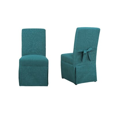 Benton Parsons Upholstered Dining Chair Upholstery Color: Teal
