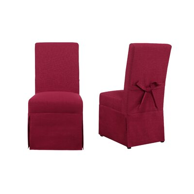 Benton Parsons Upholstered Dining Chair Upholstery Color: Berry