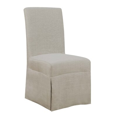 Benton Harbor Parsons Upholstered Dining Chair Upholstery Color: Natural