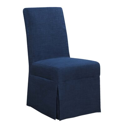 Benton Harbor Parsons Upholstered Dining Chair Upholstery Color: Blue