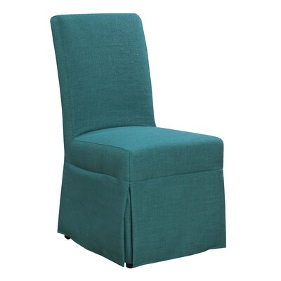 Benton Harbor Parsons Upholstered Dining Chair Upholstery Color: Teal