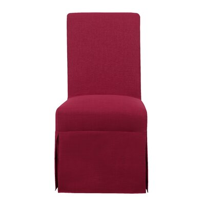 Benton Harbor Parsons Upholstered Dining Chair Upholstery Color: Berry