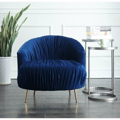 Nouvelles Barrel Chair Upholstery: Navy