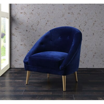 Oakham Accent Barrel Chair Upholstery: Navy Blue