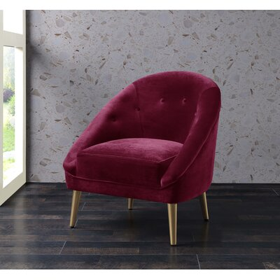 Oakham Accent Barrel Chair Upholstery: Cranberry