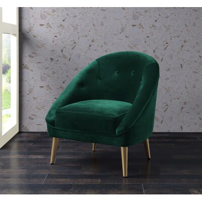 Oakham Accent Barrel Chair Upholstery: Emerald