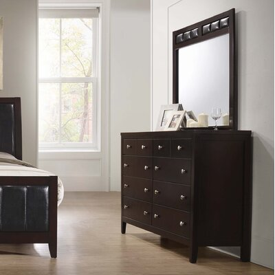 Conrad 8 Drawer Double Dresser with Mirror