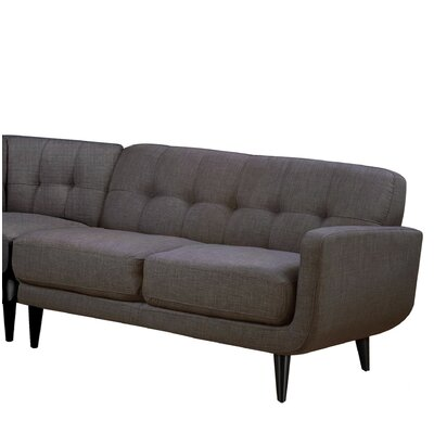 Goldberg Loveseat Color: Charcoal
