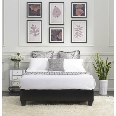 Crowell Upholstered Platform Bed Size: Full, Color: Black