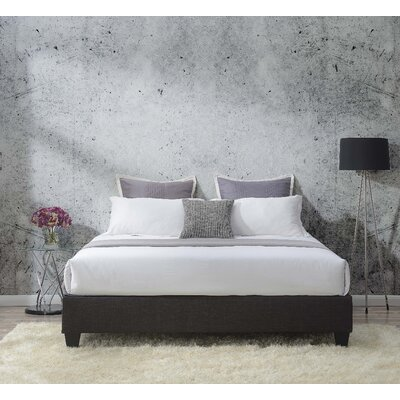 Crowell Upholstered Platform Bed Size: Queen, Color: Charcoal