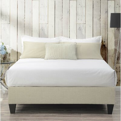 Crowell Upholstered Platform Bed Size: Twin, Color: Natural