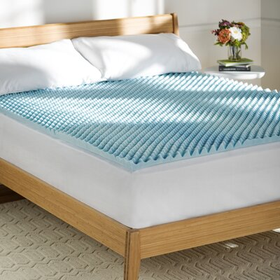 Wayfair Sleep Textured Gel Memory Foam Topper Size: Twin