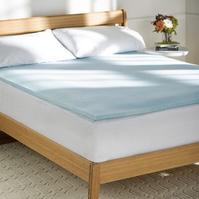 Wayfair Basics 1 Gel Memory Foam Mattress Topper Size: Queen