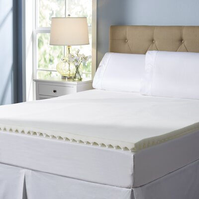 Wayfair Basics 2 Textured Memory Foam Mattress Topper Size: Full