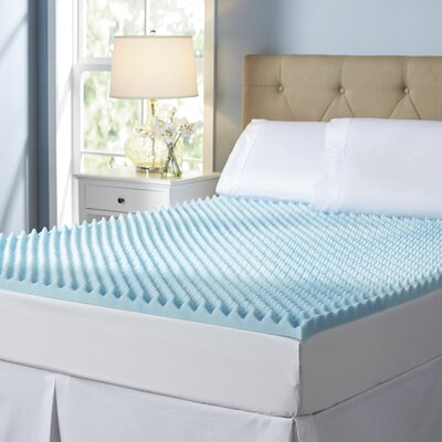 Wayfair Sleep 2 Gel Memory Foam Mattress Topper Size: Twin