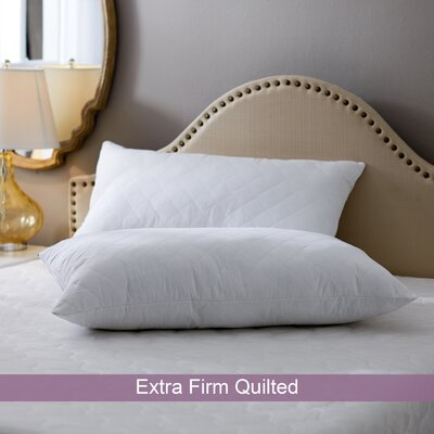 Wayfair Basics Extra Firm Quilted Polyester Pillow Size: King