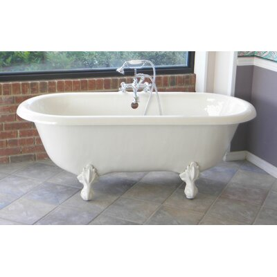 Marquise 66 x 30 Freestanding Soaking Bathtub Color: Brushed Nickel