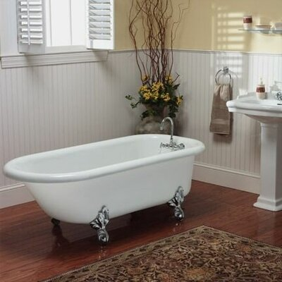 Regent 60 x 30 Freestanding Soaking Bathtub Color: Brushed Nickel